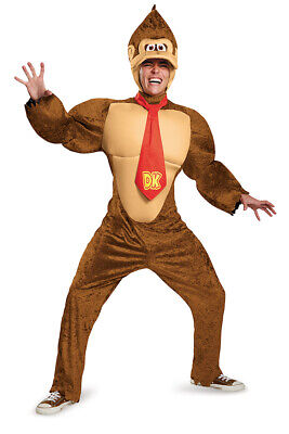 Adult Deluxe Donkey Kong Super Mario Costume size XXL