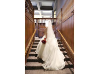 Elegant Wedding Dress in Manchester with FREE Crown, Veil and Underskirt (Sizes for 10/12/14/16)