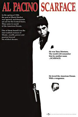 """Scarface - Movie Poster (The American Dream - Regular Style) (Size: 24"""" X 36"""")"""
