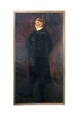 """Rarität! Ölgemälde Franz von Lenbach """"Otto Fürst von Bismarck"""" in Lebensgröße"""