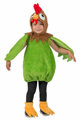 Green Rooster Toddler Kids Halloween Cute Farm Animal Costume 12mths-2T