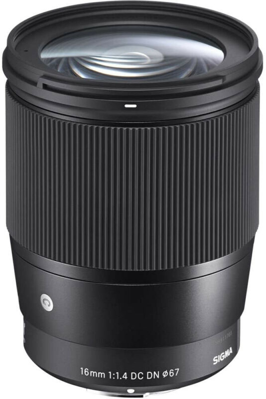 Sigma 16mm f/1.4 DC DN Contemporary Lens for Sony with Accessory Bundle (Tripod)