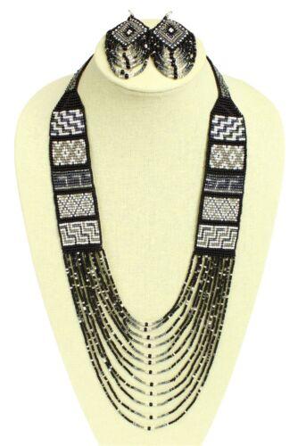 Mesa Crystal Glass Beads Guatemala Necklace Earrings Lot Wholesale Six Pack Set