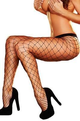 SEXY WOHERREN NIEDRIGE SCHWARZ FISCHNETZ STRUMPFHOSE BREITE ZUBEHÖR KOSTÜM - Netzstrümpfe Sexy Kostüm Zubehör