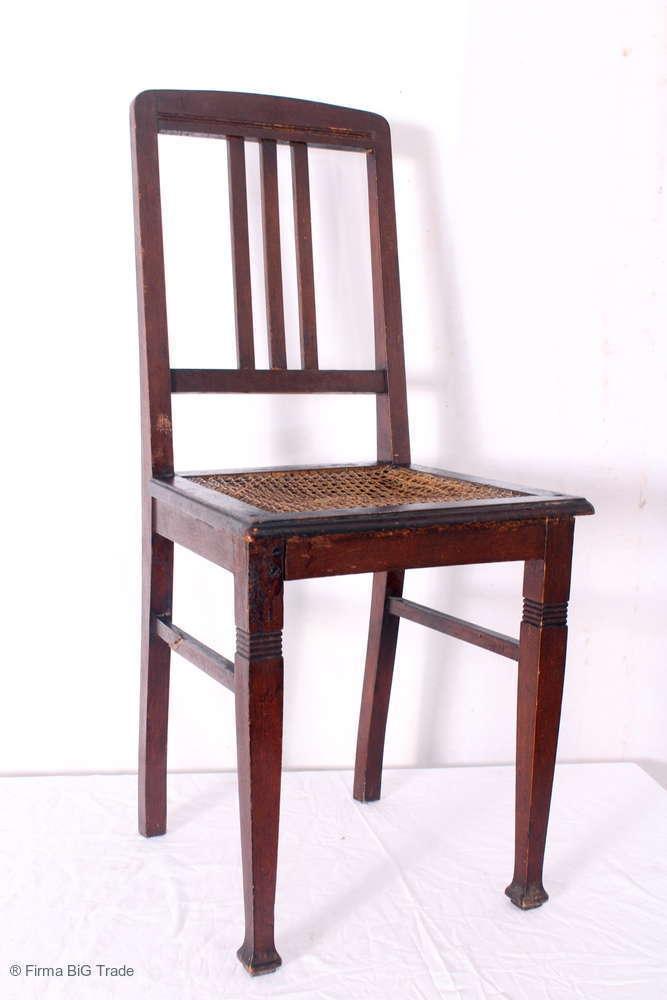 Antiker Chippendale Stuhl Mit Wiener Geflecht