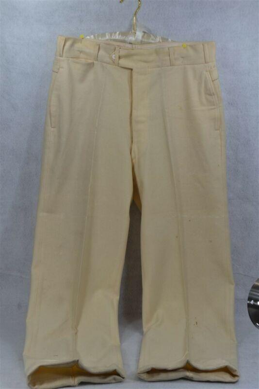 pants men slacks button fly white wool Edwardian Victorian 1890-1910 antique