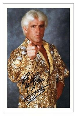 NATURE BOY RIK FLAIR WWE WRESTLING SIGNED PHOTO PRINT AUTOGRAPH