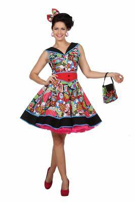 Damen Kostüm Pop-Art Comic Kleid 50er 60er Jahre Fifties Sixties Andy (Kostüm Sixties)