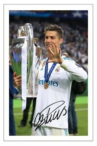 CRISTIANO RONALDO REAL MADRID SOCCER SIGNED AUTOGRAPH PHOTO PRINT