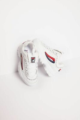 Fila women's disruptor ll premium repeat white/navy/red shoes