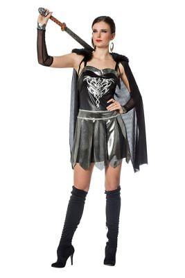 Krieg Kostüm (WIL - Damen Kostüm Fantasy Kriegerin Amazone Karneval Fasching)