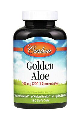Golden Aloe 100mg Carlson Laboratories 180 Softgel