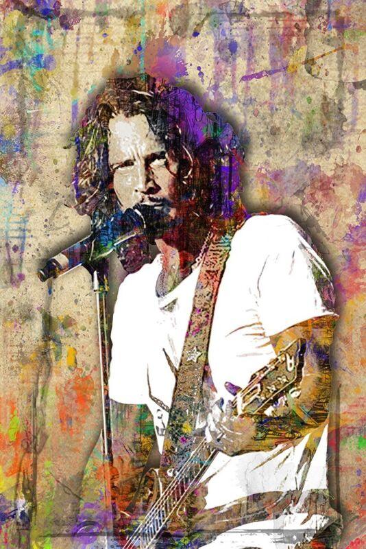 CHRIS CORNELL Music Art Tribute 20x30 Poster Chris Cornell SOUNDGARDEN Free Ship