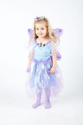 Fee Mädchen Kostüm Set  Kinder Kleid Elfe  Kinderkostüm Karneval Fasching (Fee Elfen Kostüm)