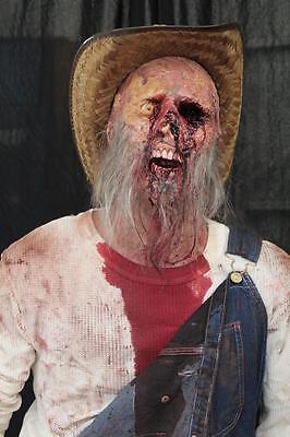 LIFESIZE STANDING HILLBILLY Haunted House Halloween Prop THE WALKING DEAD Corpse - Dead Hillbilly Halloween