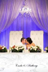 Posh and Beck wedding bridal throne chairs Perth Perth City Area Preview