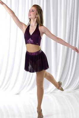 I Won't Give Up Dance Costume Mesh Middle Dress Child 6x7 New