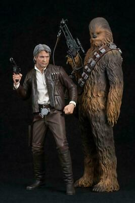 STAR WARS THE FORCE AWAKENS 1/10 HAN SOLO & CHEWBACCA ArtFX+ Statues Kotobukiya