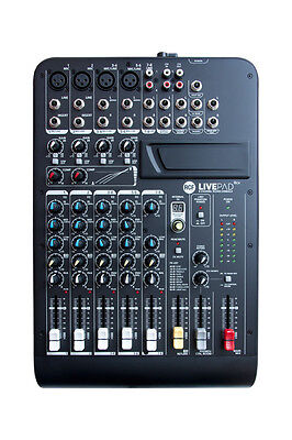 RCF LIVEPAD8CX 8Ch Fader Control Built-in Compressor FX Audio Compact Console Analog Compact Console