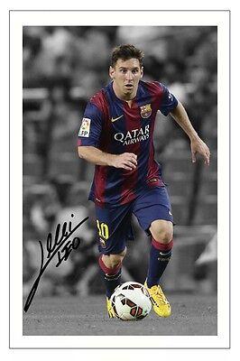 LIONEL MESSI FC BARCELONA  AUTOGRAPH SIGNED PHOTO PRINT 2014/15