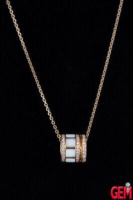 Rose Gold 585 Anchor Chain 18K 750 Diamond Ceramic Barrel 20