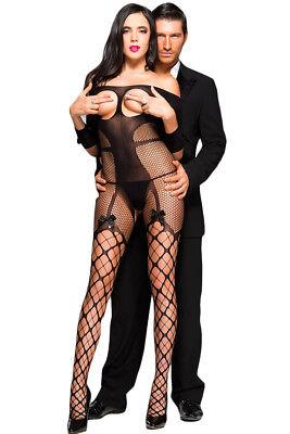 Collant Calze Donna Sexy Rete Nero body tuta sex toy misstress LINGERIE n° 87017