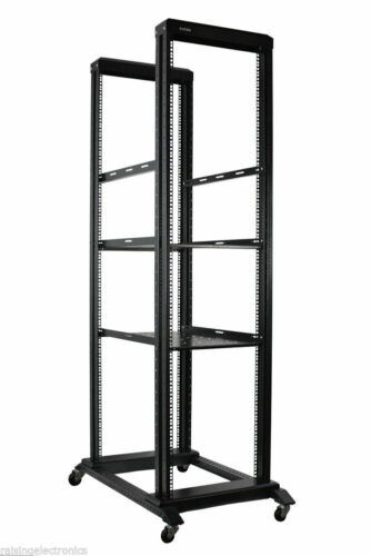 42U Open Frame Server Network Rack 800MM Deep 4 Post. Black