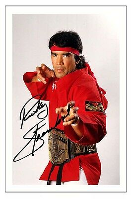 RICKY THE DRAGON STEAMBOAT WWE WRESTLING SIGNED PHOTO PRINT AUTOGRAPH