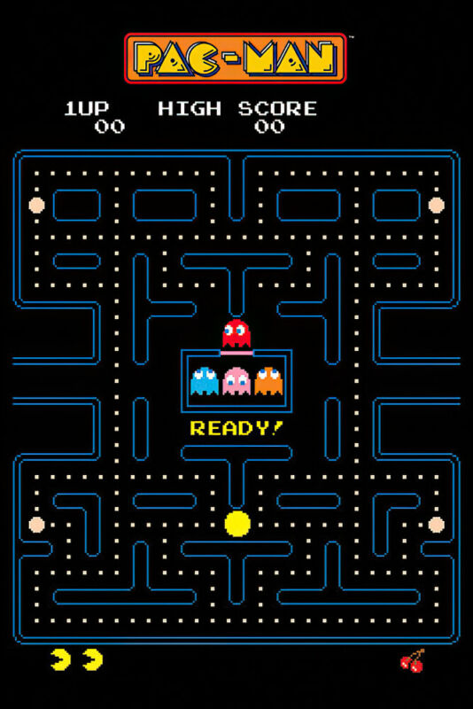 "Pac-Man - Gaming Poster (Classic Game Maze) (Pac Man) (Size: 24"" X 36"")"