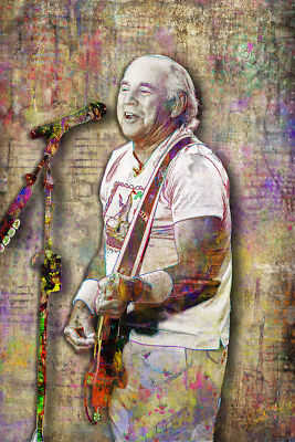 JIMMY BUFFETT Pop Art 12x18in Poster, Jimmy Buffett Tribute Print Free Shipping