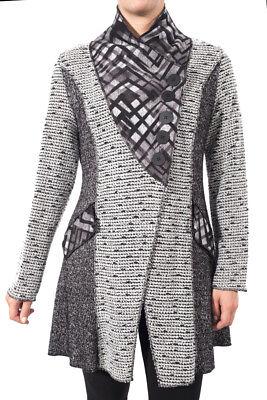 Joseph Ribkoff Grey Black Textured Long Sleeved Jacket Size 8  Uk10  New 174812