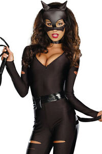 Sexy Cat Woman Super Hero Justice League Avengers DC Halloween Costume 8 10 12