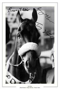 TOMMY-STACK-BRIAN-FLETCHER-GINGER-MCCAIN-RED-RUM-GRAND-NATIONAL-SIGNED-PRINT