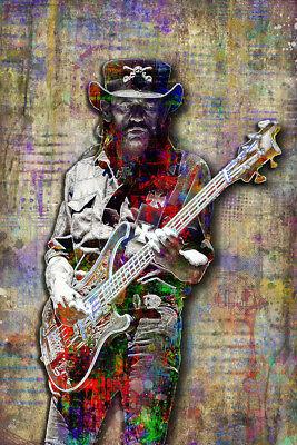 Lemmy Kilmister of MOTORHEAD 20x30in Poster, Motorhead Tribute Art Free Shipping