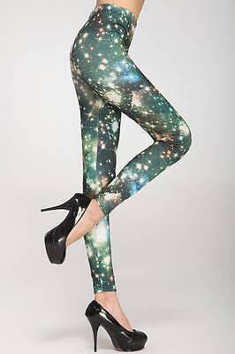Twinkling Stars Print Footless Leggings 1 Pair OSFM Style # 79069 (Twinkling Stars)
