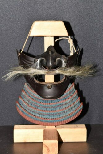 (AN-99) Iron MENPO with Red KIRITUKE MENDARE of KABUTO Edo