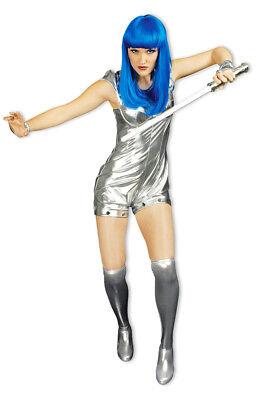 Spacegirl Kostüm Silber Damen Weltraum Future Zukunft Anzug Show Party %SALE%