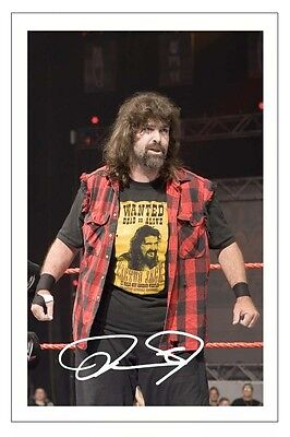 MICK FOLEY WWE WRESTLING SIGNED PHOTO PRINT AUTOGRAPH CACTUS JACK MANKIND