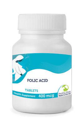 ACIDO FOLICO 400MCG vitamina B9 30/60/90/120 /180/250 Compresse Pillole