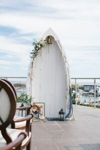 Wooden boat row boat for wedding backdrop