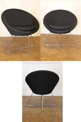 Used Allermuir Conic A630 Receptionlounge Chair In Black Cloth X 4