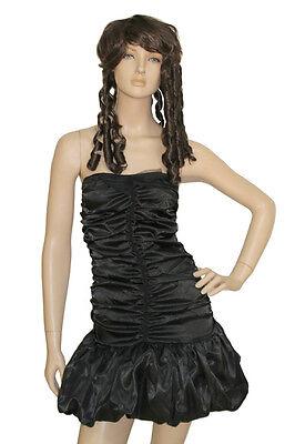 Sexy Black Dark Goth Angel Fancy Dress Costume Outfit Halloween ()