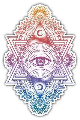 Sacred Geometry Eye Religion Symbol Car Bumper Sticker Decal ''SIZES'' (Faith Symbols)