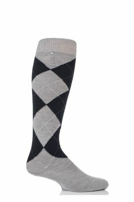 Pringle Of Scotland Cashmere Argyle Pattern Knee High Socks UK 7-11 TD087 ii 16 ()