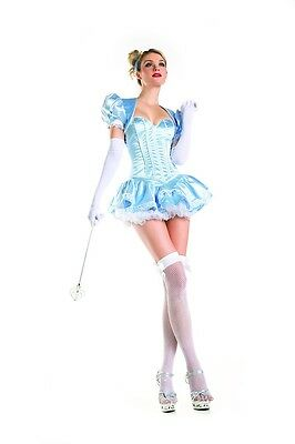 Sexy Adult Halloween Deluxe Fairytale Princess Cinderella Costume w Headband (Fairytale Princess Costume Adults)