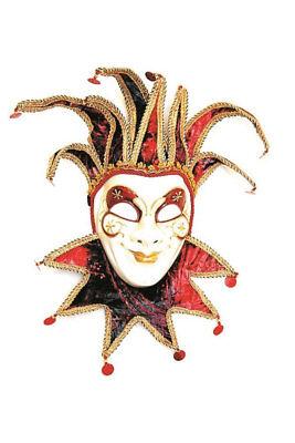 Venezianische Maske Joker Clown als Wand-Deko Dekoration Maske Karneval KK ()