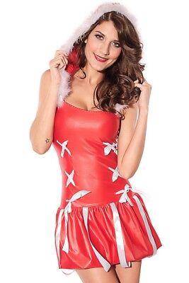 Mann Elfe Kostüm (rot Weihnachten Kostüm Elfen Damen Mini Kostüm Damen Miss Weihnachtsmann Outfit)
