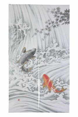 JAPANESE Noren Curtain NEW KOI FISH  NEW MADE IN JAPAN (Noren Koi)