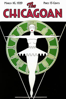 Chicago Illinois Modern Ballet Dance Tourism Travel Vintage Poster Repro Free Sh