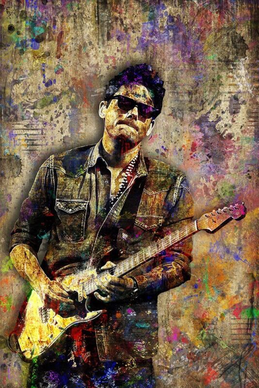 JOHN MAYER Pop Art 12x18in Poster, John Mayer Trib Print Mayer Fine Art Print